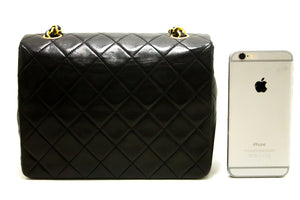 CHANEL Mini Square Lytse ketting Schoudertas Crossbody Black Purse s02-Shoulder Bag-hannari-shop