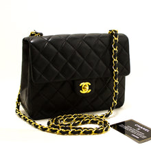 CHANEL Mini Square Small Chain Shoulder Bag Crossbody Black Flap R13-Chanel-hannari-shop