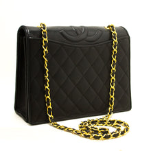 CHANEL Classic Chain Shoulder Bag Black Quilted Full Flap Lamskin s18-Chanel-hannari-shop
