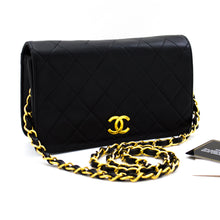 CHANEL Small Chain Shoulder Bag Clutch Black Quilted Flap Lambskin x40 hannari-shop
