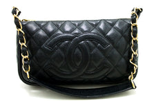 CHANEL Caviar Mini Small Chain One Shoulder Bag Black Quilted p89