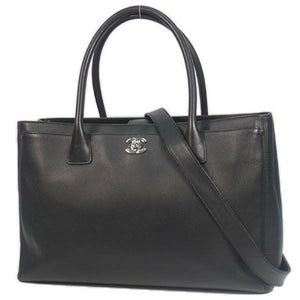 CHANEL ايگزيڪيوٽو tote وومين ٽڪيٽ وارو ٻج ڪارو x سلور هارڊويئر 69839195 hannari-shop