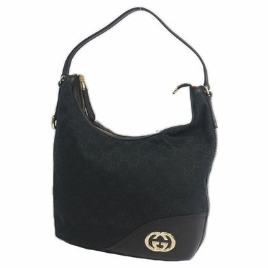 GUCCI one shoulder Interlocking Womens shoulder bag 182491 black 69815924 hannari-shop