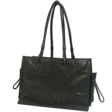 shoulder Womens tote bag black 69775426 hannari-shop