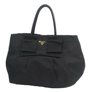 PRADA ribbon Womens handbag BN1601 Nero( black) 69765332 hannari-shop