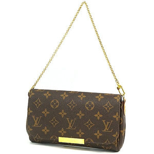 LOUIS VUITTON Favorite PM leather w shoulder strap Womens shoulder bag M40717 69749544 hannari-shop