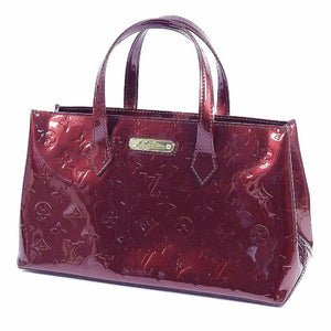 LOUIS VUITTON Monogram Verni Wilshire PM Womens handbag M93641 Amaranto 69710377 hannari-shop