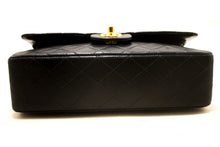 "CHANEL 2.55 Double Flap 10 ""Chain Shoulder Bag Black Quilted Lamb s14-Chanel-hannari-shop"
