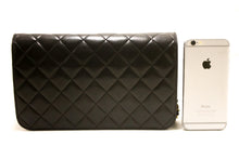 CHANEL Chain Shoulder Bag Clutch Black Quilted Flap Lambskin Purse s23