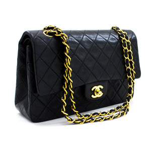 "CHANEL 2.55 Double Flap 10 ""Chain mabegi ya begi Nyeusi Blacksksk y06 hannari-shop"