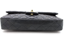 CHANEL Single Flap Chain Shoulder Bag Black Quilted Lambskin Purse y14 hannari-shop