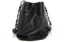 "CHANEL Caviar GST 13 ""Grand Shopping Tote Chain Shoulder Bag Black R56-hannari-shop"