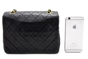 CHANEL Mini Square Small Chain Shoulder Bag Crossbody Black y19 hannari-shop