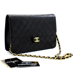 CHANEL Boy Black Caviar Wallet On Chain WOC Zipper Shoulder Bag L26-Chanel-hannari-shop
