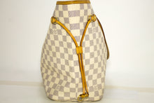 Louis Vuitton Damier Azur Neverfull MM Shoulder Bag Canvas Leather k69-Louis Vuitton-hannari-shop
