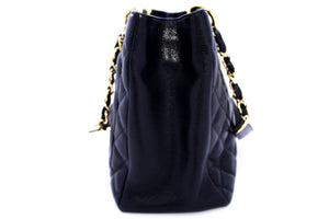 "CHANEL Caviar GST 13 ""Grand Shopping Tote Chain Lain Плечавая сумка Золата R54"