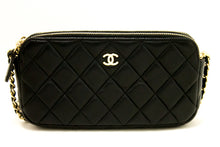 CHANEL Lambskin Wallet On Chain WOC Double Zip Chain Shoulder Bag L27-Chanel-hannari-shop