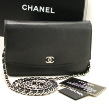 CHANEL Caviar Wallet On Chain WOC Black Shoulder Bag Crossbody k04-Chanel.-hannari-shop