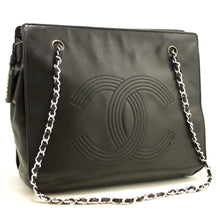 CHANEL Chain Shoulder Bag Black CC Lambskin Leather Silver Zipper j69-Chanel Boutique-hannari-shop