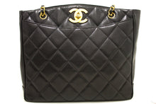 CHANEL Caviar Gold Chain Shoulder Bag Black Quilted Leather CC f52-Chanel Boutique-hannari-shop