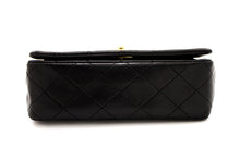 CHANEL Small Chain Shoulder Bag Black Quilted Flap Lambskin s89
