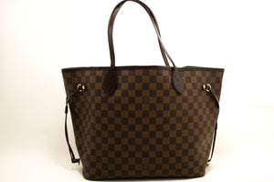 Louis Vuitton Damier Ebene Neverfull MM Shoulder Bag Canvas k40-Louis Vuitton-hannari-shop