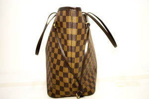 Louis Vuitton Damier Ebene Neverfull MM Taška přes rameno Plátno k21-Louis Vuitton-hannari-shop