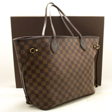Louis Vuitton Damier Ebene Neverfull MM Bolso de hombro de lona k20-Louis Vuitton-hannari-shop