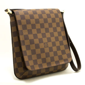 Louis Vuitton Damier Ebene Musette salsa Short-Louis Vuitton suis accingatur Shoulder Bag L50 hannari-tabernam,
