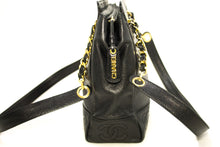 CHANEL Caviar Triple CC حقيبة كتف سلسلة أسود ذهبي Hw Zipper k02-Chanel-hannari-shop