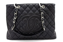 "CHANEL Caviar GST 13 ""Grand Shopping Tote Chain Shoulder Bag Negre t50-hannari-shop"