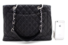 "CHANEL Caviar GST 13"" Grand Shopping Tote Chain Shoulder Bag Black t50-hannari-shop"