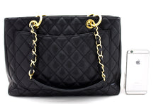 "CHANEL Caviar GST 13 ""Grand Shopping Tote Chain Shoulder Bag Μαύρο t47-hannari-shop"