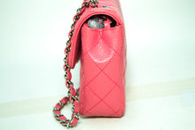 CHANEL Caviar Chain Shoulder Bag Pink Quilted Flap Leather Silver k55