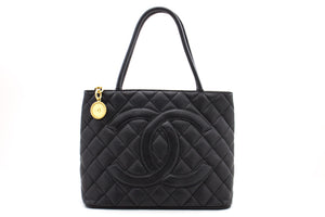 CHANEL Cambon Tote Large Shoulder Bag Black Quilted Calfskin CC k61-Chanel Boutique-hannari-shop