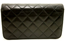 CHANEL Small Chain Shoulder Bag Clutch Black Quilted Flap Lambskin k35-Chanel-hannari-shop