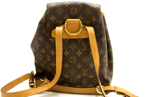 Louis Vuitton Montsouris MM Monogram Backpack Bag Canvas Leather k45-Louis Vuitton-hannari-shop