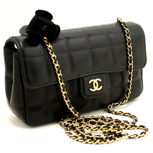 CHANEL Camellia Chocolate Bar Chain Chain ejika Apo dudu Quilted k47-Chanel-hannari-shop