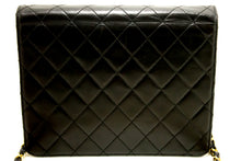 CHANEL Small Chain Shoulder Bag Clutch Black Quilted Flap Lambskin k91-Chanel-hannari-shop
