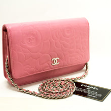 CHANEL Pink Camellia Wallet On Chain WOC Shoulder Bag Crossbody L88-Chanel-hannari-shop