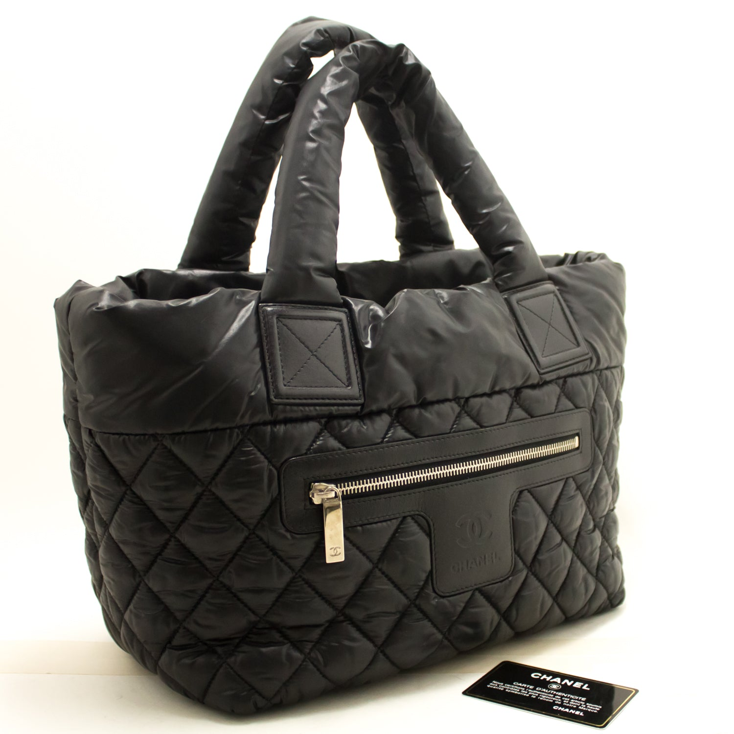 b95871f53664 ... CHANEL Coco Cocoon Nylon Large Tote Bag Black Bordeaux Reversible k93- Chanel-hannari- ...