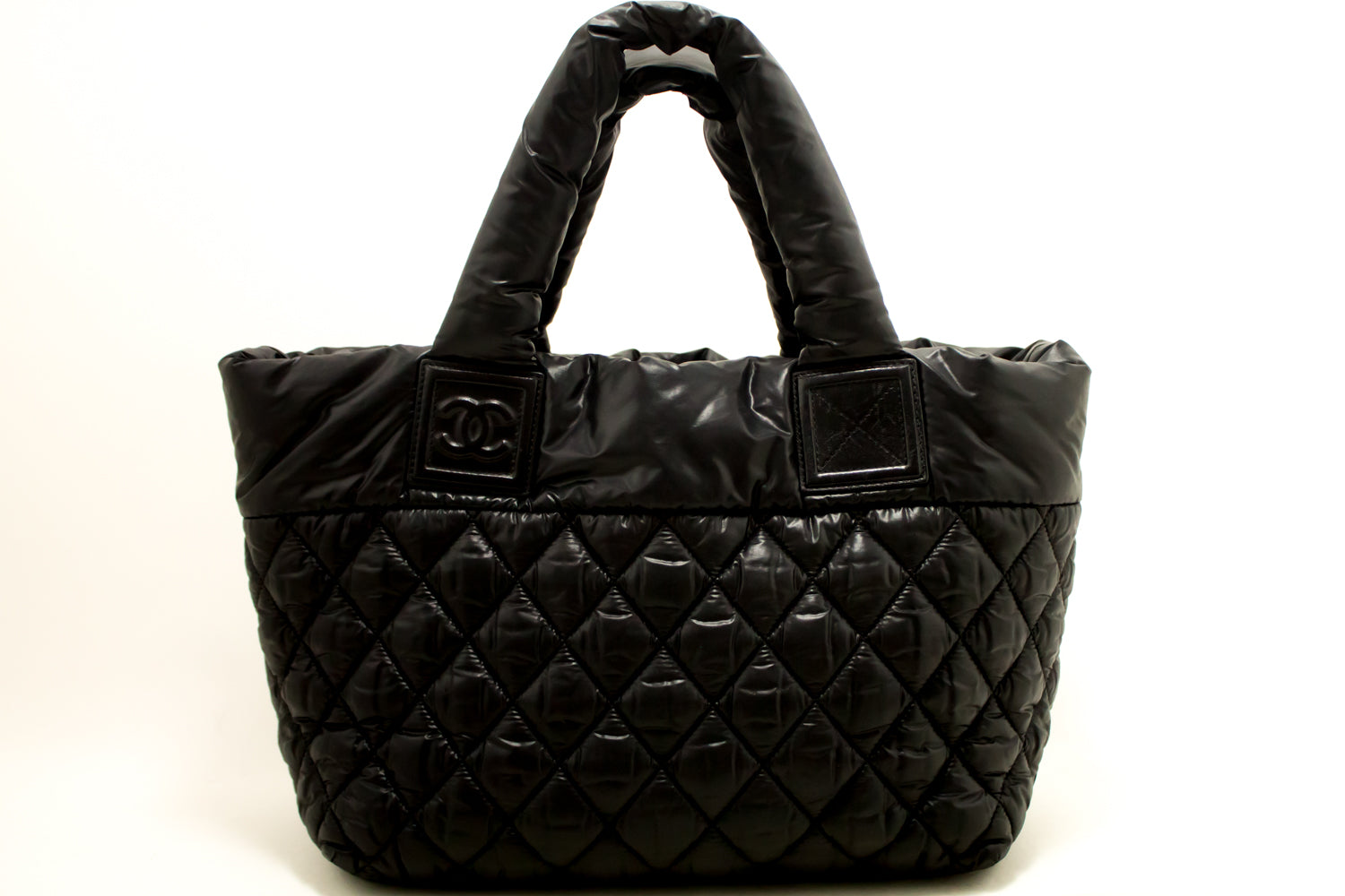 842a006b71a4 ... CHANEL Coco Cocoon Nylon Large Tote Bag Black Bordeaux Reversible k93- Chanel-hannari- ...
