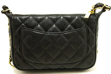 CHANEL Caviar Mini Small Chain One Shoulder Bag Black Quilted m65