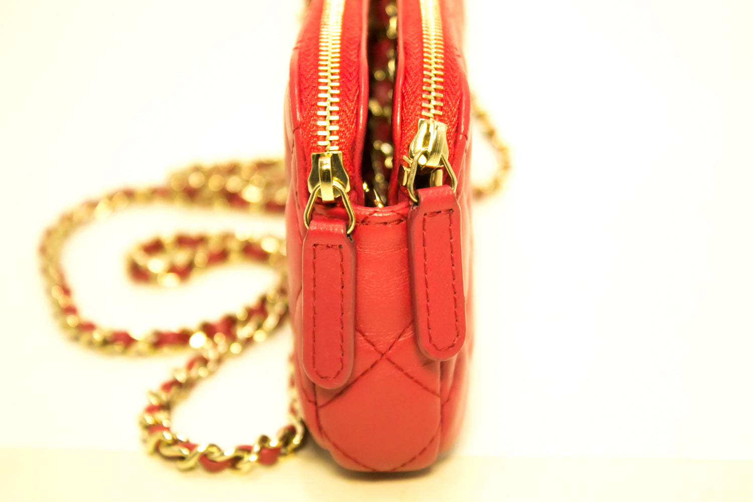 2566a9955 ... CHANEL Red Wallet On Chain WOC Double Zip Chain Shoulder Bag m84-Chanel-hannari  ...