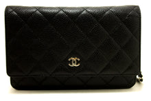 CHANEL Caviar Wallet On Chain WOC Black Shoulder Bag Crossbody m93-Chanel-hannari-shop