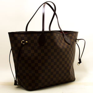 Louis Vuitton Damier Ebene Neverfull MM Shoulder Bag Canvas n30