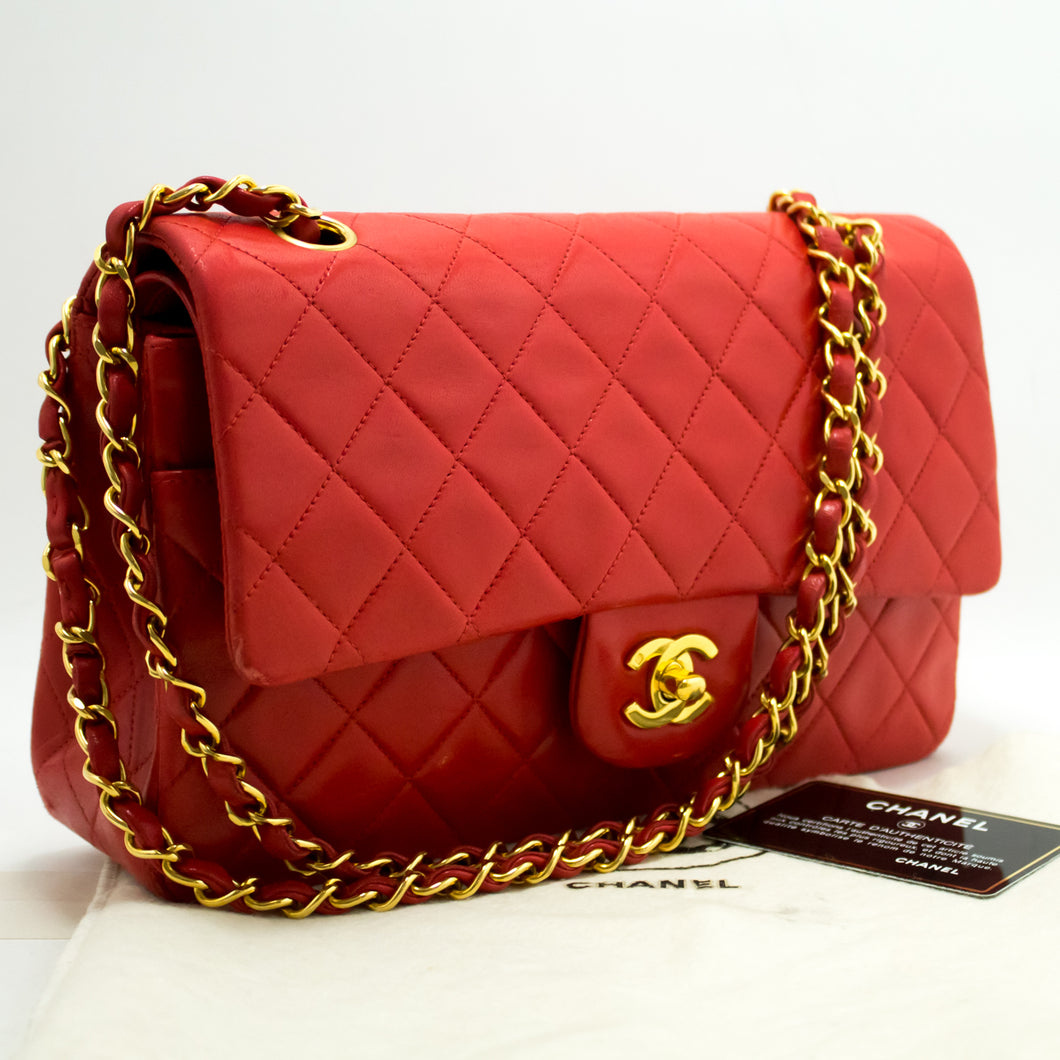 CHANEL Red 2.55 Double Flap 10