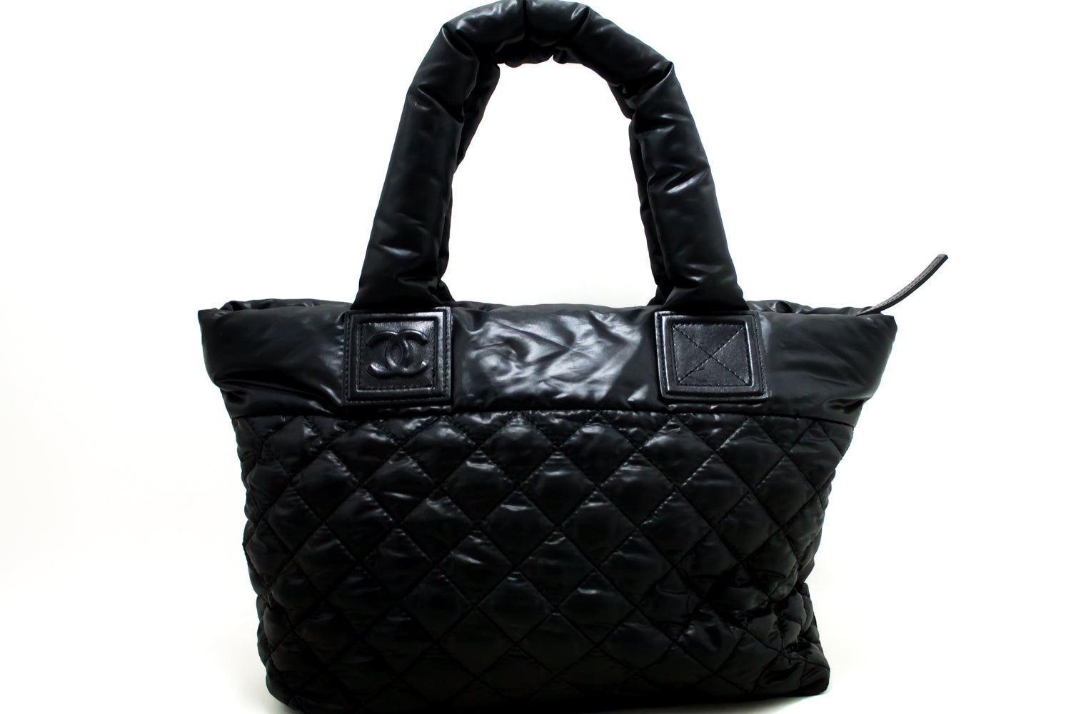 ... CHANEL Coco Cocoon Nylon Large Tote Bag Black Bordeaux Reversible n52  ... 149b96a8b9981
