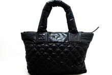 CHANEL Coco Cocoon Nylon Large Tote Bag Black Bordeaux Reversible n52