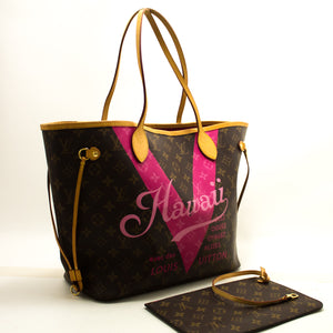 Louis Vuitton Auth Hawaii Limited Neverfull MM M43299 Monogram Shoulder Bag n36